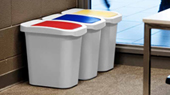 compact recycling bins