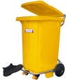 Wrightway Bin: with locking casters and foot pedal