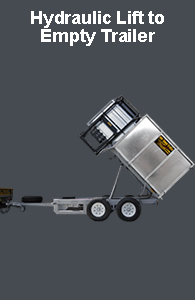 Bin-lift and empty Tip-trailer: Complete unit...